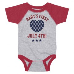 Baby's First July Fourth Onesie!