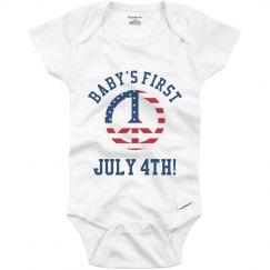 Baby's First July 4th Onesie