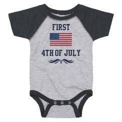 First Fourth of July USA Onesie