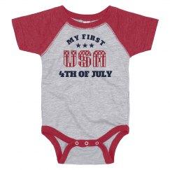 My First July 4th Baby Onesie