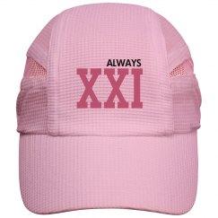 Always 21 Roman Numeral Running Hat