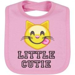 Little Cutie Emoji Baby Bib