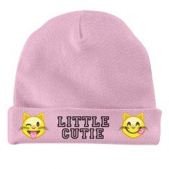 Little Cutie Emoji Baby Beanie