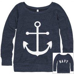 Navy Anchor Sweatshirt