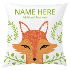 Custom Name Kids Room Fox