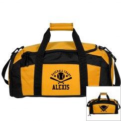 Alexis. Baseball bag