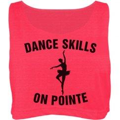 Dance skills on pointe shirt