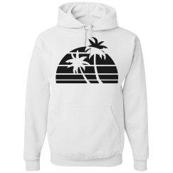 sun set palm trees