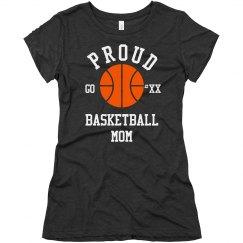 Rhinestone Bling Basketball Mom