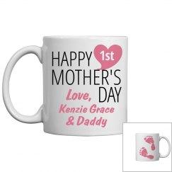 Personalized 1st Mom Coffee Mug