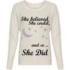 She believed..