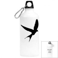 Blackbird wing water bottle
