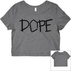 Grey Dope Crop Top