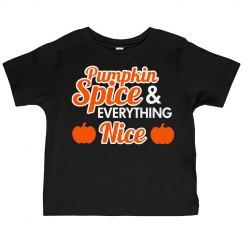 Cute Pumpkin Spice Toddler Tee
