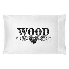 WOOD. Pillow case