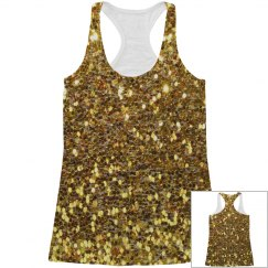 Gold Sparkle  Tank Vest