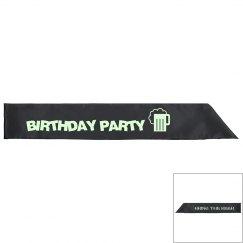 Birthday Party Sash