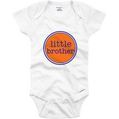 Little Brother Onesie Orange Navy