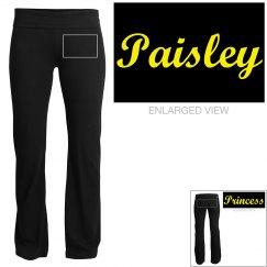Paisley, yoga pants