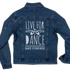 Custom Dance Studio Jean Jacket