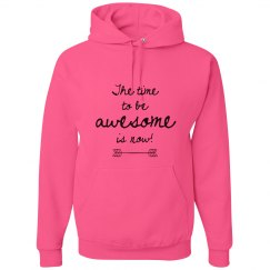 Be Awesome Adult Neon Hoodie