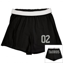 Taurus Sporty Zodiac Cheer Short