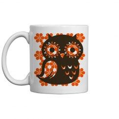 Vintage Design Owl Mug