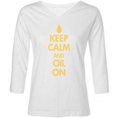 oil on 3/4 sleeve