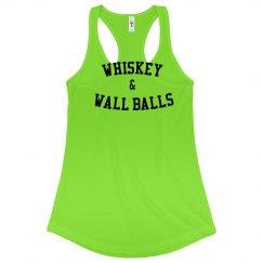 whiskey & wall balls tank