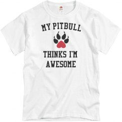 My pitbull loves me