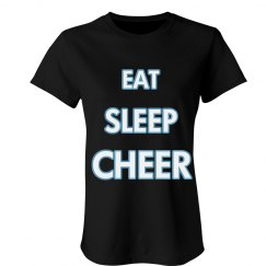 Eat Sleep Cheer All Caps