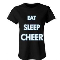 Eat Sleep Cheer All Caps