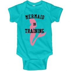 Mermaid in training onesie!