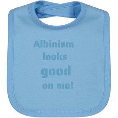 Albinism Looks Good On Me- Blue Bib
