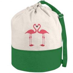 Pink Flamingo Duffle Bag