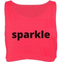 pink sparkle crop top