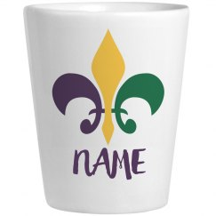 Personalized Mardi Gras Shot Glass