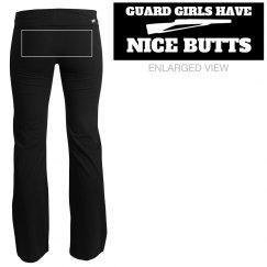 Funny Wordplay Color Guard Girls Butts Yoga Pants
