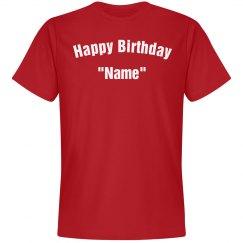 Personalize birthday Tee