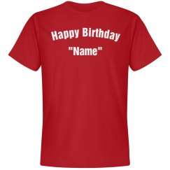 Personalize birthday Tee