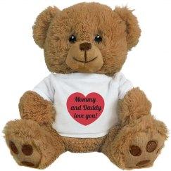 Parents Love You Teddy Bear