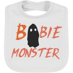 Cute Boobie Monster Halloween Baby Bib