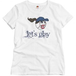 Let's Play Baseball Face Screaming Sports Athletics