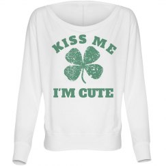 Womens Long Sleeve St Pattys Tee