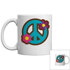 Floral Peace Sign Mug