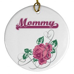 Mommy Floral Ornament