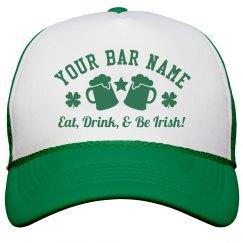 Eat, Drink, & Be Irish Pub hat