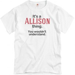 Its a Allison thing