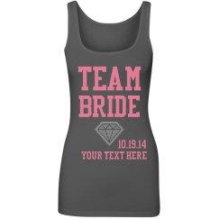 Rhinestone Team Bride Custom Tank