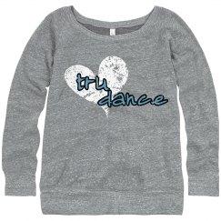 Heart boatneck Sweatshirt